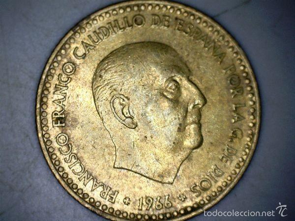 Monedas Franco: MONEDA 1 PESETA 1966 71* FRANCO CIRCULADA USADA - Foto 2 - 58231210