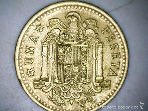 MONEDA 1 PESETA 1966 69* FRANCO CIRCULADA USADA (Numismática - España Modernas y Contemporáneas - Estado Español)