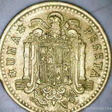 Monedas Franco: MONEDA 1 PESETA 1966 69* FRANCO CIRCULADA USADA. Lote 58231220