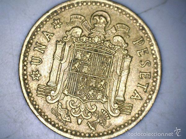 MONEDA 1 PESETA 1966 74* FRANCO CIRCULADA USADA (Numismática - España Modernas y Contemporáneas - Estado Español)