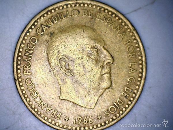 Monedas Franco: MONEDA 1 PESETA 1966 74* FRANCO CIRCULADA USADA - Foto 2 - 58231260
