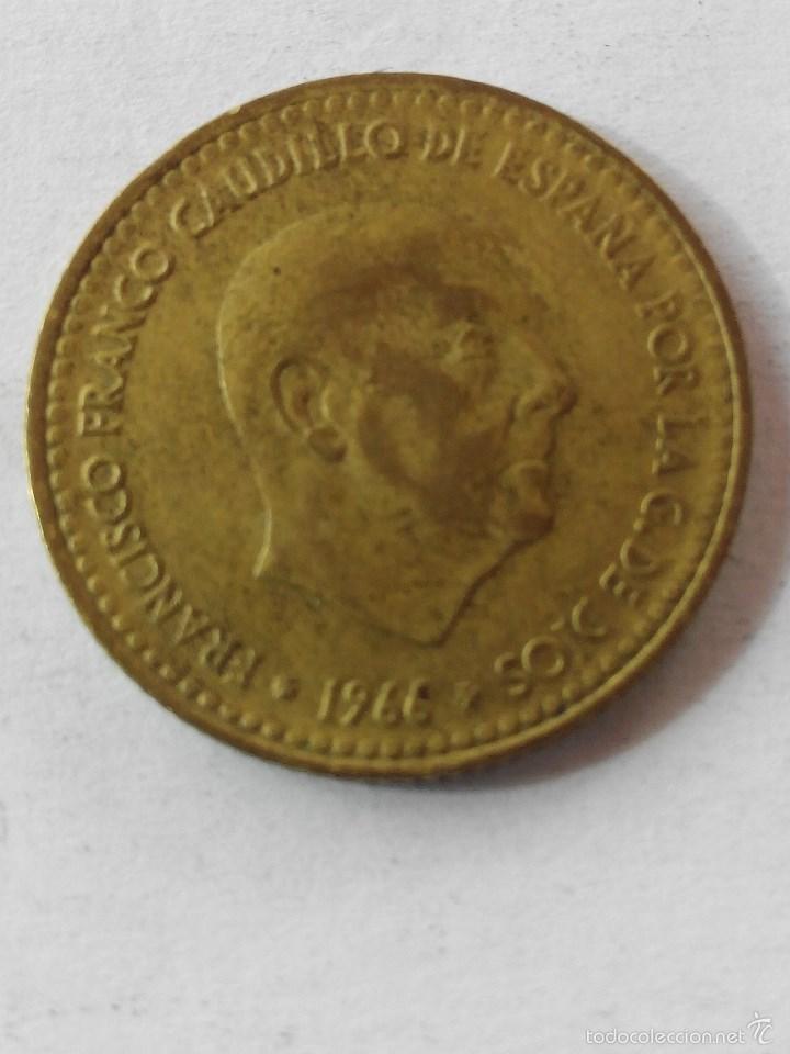 Monedas Franco: MONEDA ESPAÑA 1 PESETA 1966 *69 . EBC - Foto 2 - 58559766