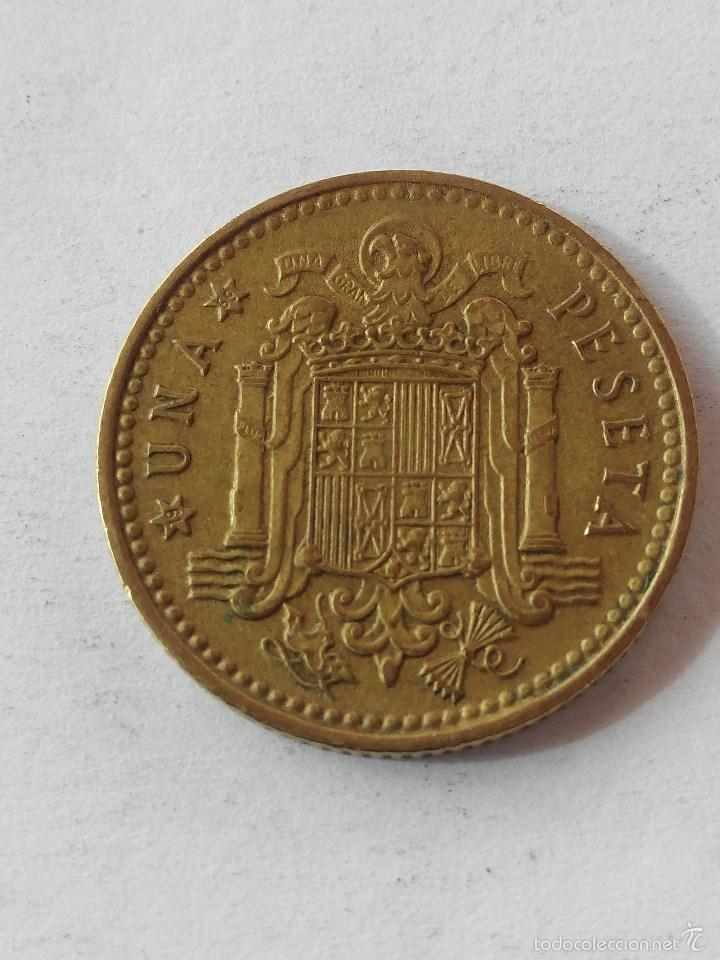 MONEDA ESPAÑA 1 PESETA 1966 *69 . MBC (Numismática - España Modernas y Contemporáneas - Estado Español)