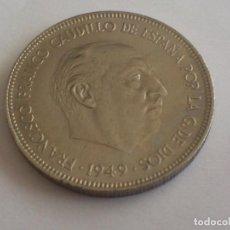Monedas Franco: MONEDA 5 PESETAS, CUPRO-NIQUEL, FRANCISCO FRANCO - 1949 - 50, S/C. Lote 62103228