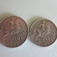 Monedas Franco: 5 Y 10 CÉNTIMOS. 1945 Y 1953. EXCELENTES.. Lote 62488564