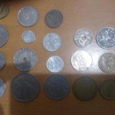 Monedas Franco: LOTE 18 MONEDAS ESPAÑOLAS DESDE LA REPÚBLICA A JUAN CARLOS . Lote 62591078