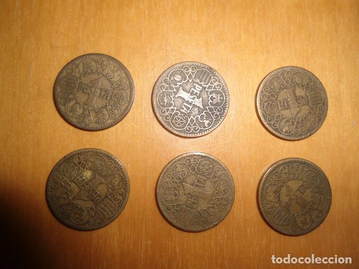 Monedas Franco: LOTE MONEDAS ANTIGUAS - 1 PESETA 1944 - FRANCO - Foto 2 - 62693124