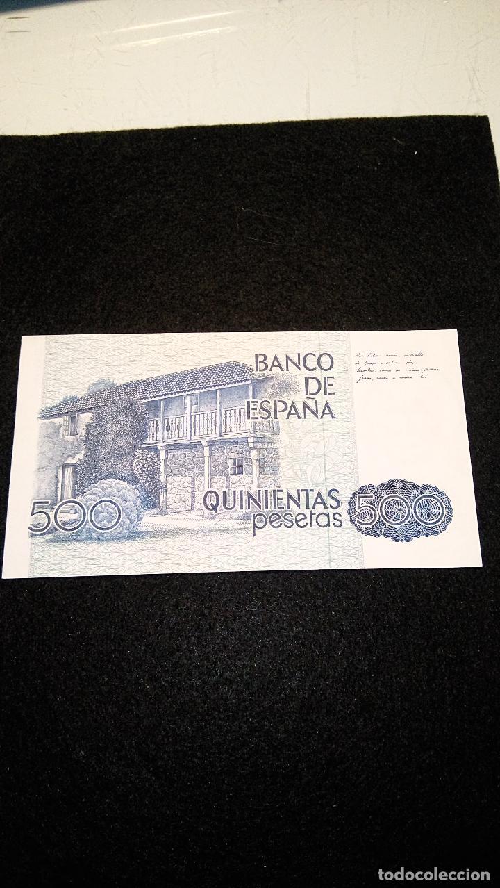 Monedas Franco: BILLETE 500 PESETAS. ROSALIA D.C. 1.979 SERIE ESPECIAL 9 A. AUTENTICO. FOTOS Y DESCRIPCION. - Foto 3 - 64831959