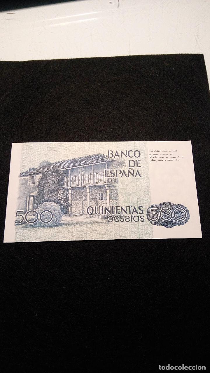 Monedas Franco: BILLETE 500 PESETAS. ROSALIA D.C. 1.979 SERIE ESPECIAL 9 A. AUTENTICO. FOTOS Y DESCRIPCION. - Foto 4 - 64831959