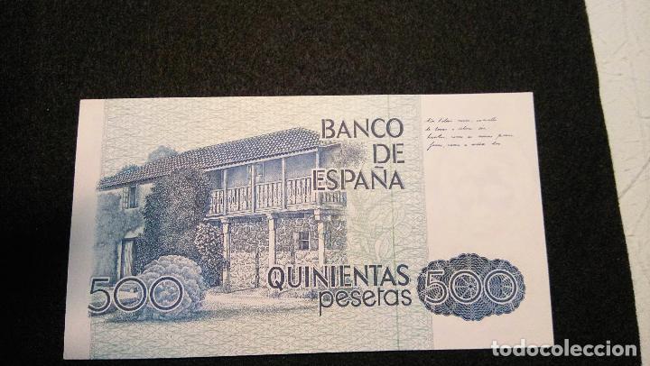 Monedas Franco: BILLETE 500 PESETAS. ROSALIA D.C. 1.979 SERIE ESPECIAL 9 A. AUTENTICO. FOTOS Y DESCRIPCION. - Foto 5 - 64831959