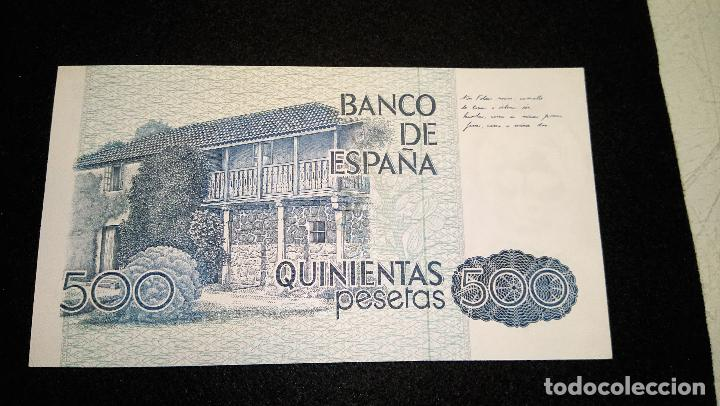 Monedas Franco: BILLETE 500 PESETAS. ROSALIA D.C. 1.979 SERIE ESPECIAL 9 A. AUTENTICO. FOTOS Y DESCRIPCION. - Foto 6 - 64831959