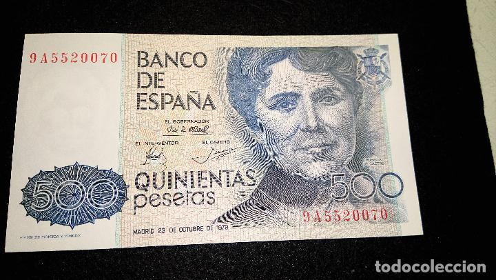 Monedas Franco: BILLETE 500 PESETAS. ROSALIA D.C. 1.979 SERIE ESPECIAL 9 A. AUTENTICO. FOTOS Y DESCRIPCION. - Foto 7 - 64831959