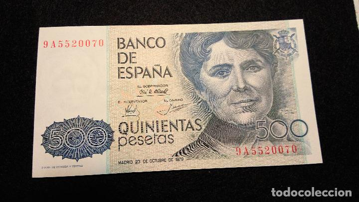 Monedas Franco: BILLETE 500 PESETAS. ROSALIA D.C. 1.979 SERIE ESPECIAL 9 A. AUTENTICO. FOTOS Y DESCRIPCION. - Foto 8 - 64831959