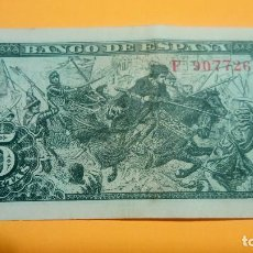 Monedas Franco: BILLETE DE 5 PESETAS. 15.06.1.945 SERIE F 907726 BUEN ESTADO FOTOS Y DESCRIPCION. Lote 65022483