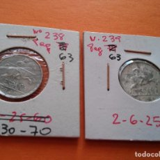 Monedas Franco: 2 MONEDAS DE 5 CENTIMOS AÑO 1940 Y 1941 CORRECTA CONSERVACION. Lote 66759110