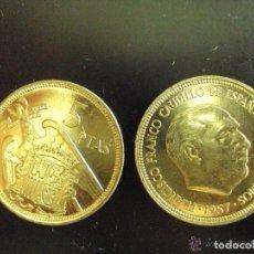 Monedas Franco: MONEDA DE 5 PESETAS DE 1957 ESTRELLA * 74 FRANCISCO FRANCO SIN CIRCULAR, SACADA DE CARTUCHO.. Lote 183220615