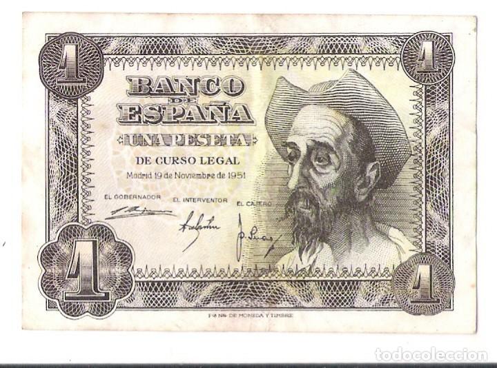 BILLETE 1 PESETA QUIJOTE *PLANCHA* (Numismática - España Modernas y Contemporáneas - Estado Español)