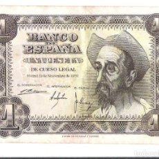 Monedas Franco: BILLETE 1 PESETA QUIJOTE *PLANCHA*. Lote 68013141
