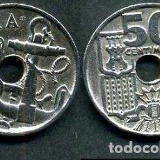 Monedas Franco: ESPAÑA 50 CENTIMOS AÑO 1949 *1953 ( TIMON Y ANCLA MARINERA - MONEDA DEL FRANQUISMO ) Nº5. Lote 154212917