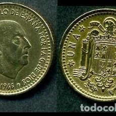 Monedas Franco: ESPAÑA 1 PESETA AÑO 1966 *1968 ( GENERAL DICTADOR FRANCISCO FRANCO - MONEDA DEL FRANQUISMO ) Nº2. Lote 69664633