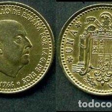 Monnaies Franco: ESPAÑA 1 PESETA AÑO 1966 *1971 ( GENERAL DICTADOR FRANCISCO FRANCO - MONEDA DEL FRANQUISMO ) Nº4. Lote 69691225