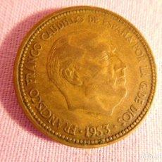 Monedas Franco: ESTADO ESPAÑOL, FRANCO, 2,50 PESETAS, 1953. Lote 69723149