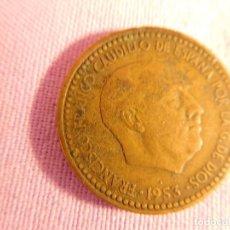 Monedas Franco: ESTADO ESPAÑOL, FRANCO, 1 PESETA, 1953. Lote 69723485