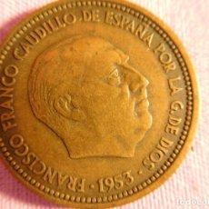 Monedas Franco: ESTADO ESPAÑOL, FRANCO, 1 PESETA, 1953. Lote 69724145