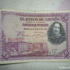 Monedas Franco: ANTIGUO BILLETE DE 50 PESETAS EN BUEN ESTADO. Lote 71132101