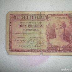 Monedas Franco: ANTIGUO BILLETE DE 10 PESETAS . Lote 71132925