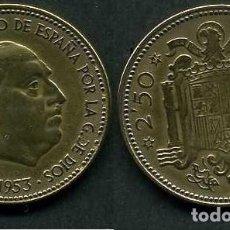 Monedas Franco: ESPAÑA 2,50 PESETAS AÑO 1953 *1954 ( GENERAL DICTADOR FRANCISCO FRANCO - MONEDA DEL FRANQUISMO )Nº9. Lote 223939057
