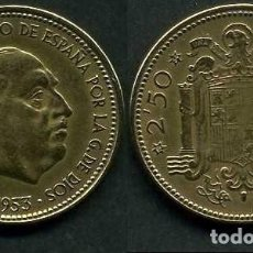 Monnaies Franco: ESPAÑA 2,50 PESETAS AÑO 1953 *1954 ( GENERAL DICTADOR FRANCISCO FRANCO - MONEDA DEL FRANQUISMO )Nº22. Lote 230296325