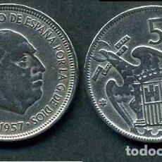 Monedas Franco: ESPAÑA 5 PESETAS AÑO 1957 *1964 ( GENERAL DICTADOR FRANCISCO FRANCO - MONEDA DEL FRANQUISMO ) Nº2. Lote 71629927