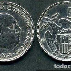 Monedas Franco: ESPAÑA 5 PESETAS AÑO 1957 *1964 ( GENERAL DICTADOR FRANCISCO FRANCO - MONEDA DEL FRANQUISMO ) Nº3. Lote 71629939