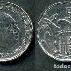 Monedas Franco: ESPAÑA 5 PESETAS AÑO 1957 *1964 ( GENERAL DICTADOR FRANCISCO FRANCO - MONEDA DEL FRANQUISMO ) Nº5. Lote 71629947
