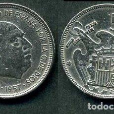 Monedas Franco: ESPAÑA 5 PESETAS AÑO 1957 *1964 ( GENERAL DICTADOR FRANCISCO FRANCO - MONEDA DEL FRANQUISMO ) Nº6. Lote 71629967