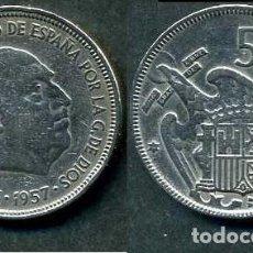 Monedas Franco: ESPAÑA 5 PESETAS AÑO 1957 *1964 ( GENERAL DICTADOR FRANCISCO FRANCO - MONEDA DEL FRANQUISMO ) Nº11. Lote 71630007