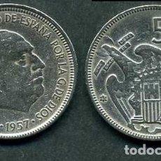 Monedas Franco: ESPAÑA 5 PESETAS AÑO 1957 *1963 ( GENERAL DICTADOR FRANCISCO FRANCO - MONEDA DEL FRANQUISMO ) Nº3. Lote 71630499