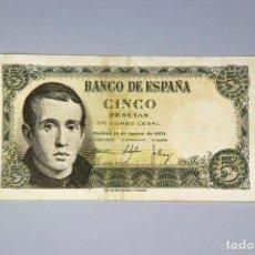 Monedas Franco: BILLETE DE 5 PESETAS 1951. Lote 71650039