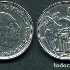 Monedas Franco: ESPAÑA 5 PESETAS AÑO 1957 *1960 ( GENERAL DICTADOR FRANCISCO FRANCO - MONEDA DEL FRANQUISMO ) Nº10. Lote 71693607