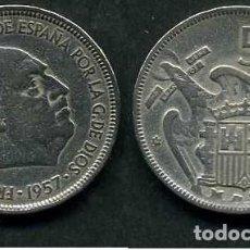 Monedas Franco: ESPAÑA 5 PESETAS AÑO 1957 *1959 ( GENERAL DICTADOR FRANCISCO FRANCO - MONEDA DEL FRANQUISMO ) Nº7. Lote 71694387