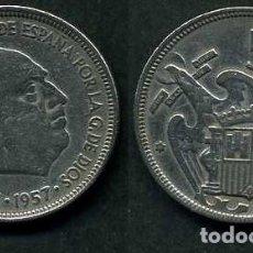 Monedas Franco: ESPAÑA 5 PESETAS AÑO 1957 *1959 ( GENERAL DICTADOR FRANCISCO FRANCO - MONEDA DEL FRANQUISMO ) Nº9. Lote 71694411
