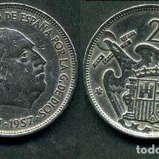 Monedas Franco: ESPAÑA 25 PESETAS AÑO 1957 *1971 ( GENERAL DICTADOR FRANCISCO FRANCO - MONEDA DEL FRANQUISMO ) Nº6. Lote 71696771