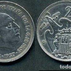 Monedas Franco: ESPAÑA 25 PESETAS AÑO 1957 *1967 ( GENERAL DICTADOR FRANCISCO FRANCO - MONEDA DEL FRANQUISMO ) Nº2. Lote 71971983