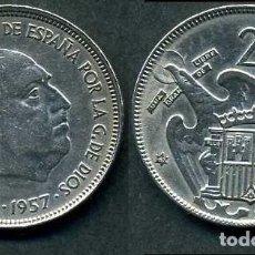 Monedas Franco: ESPAÑA 25 PESETAS AÑO 1957 *1967 ( GENERAL DICTADOR FRANCISCO FRANCO - MONEDA DEL FRANQUISMO ) Nº5. Lote 82839382
