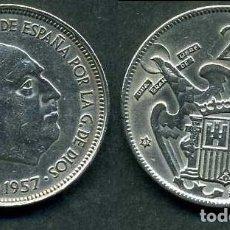 Monedas Franco: ESPAÑA 25 PESETAS AÑO 1957 *1967 ( GENERAL DICTADOR FRANCISCO FRANCO - MONEDA DEL FRANQUISMO ) Nº6. Lote 207630445