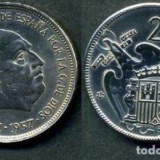 Monedas Franco: ESPAÑA 25 PESETAS AÑO 1957 *1964 ( GENERAL DICTADOR FRANCISCO FRANCO - MONEDA DEL FRANQUISMO ) Nº1. Lote 71976351
