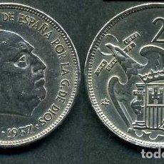 Monedas Franco: ESPAÑA 25 PESETAS AÑO 1957 *1964 ( GENERAL DICTADOR FRANCISCO FRANCO - MONEDA DEL FRANQUISMO ) Nº3. Lote 71977803