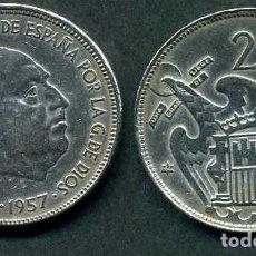 Monedas Franco: ESPAÑA 25 PESETAS AÑO 1957 *1964 ( GENERAL DICTADOR FRANCISCO FRANCO - MONEDA DEL FRANQUISMO ) Nº5. Lote 71977903