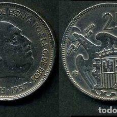 Monedas Franco: ESPAÑA 25 PESETAS AÑO 1957 *1964 ( GENERAL DICTADOR FRANCISCO FRANCO - MONEDA DEL FRANQUISMO ) Nº7. Lote 71978107
